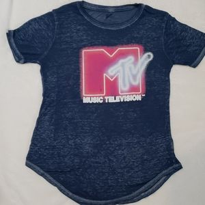 MTV short sleeve burnout tshirt